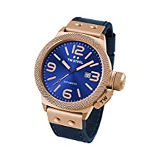 TW Steel CS65 Men's Canteen Leather Blue Dial Blue Strap Automatic Watch