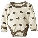 L'ovedbaby Unisex-Baby Newborn Organic Gloved-Sleeve Bodysuit, Stone Cloud, 3-6 Months