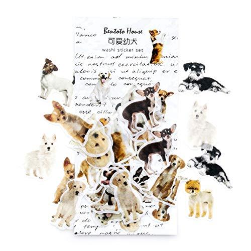 Album Dog Scrapbook - Cute Cartoon Funny Dog Calendar Diary Book Sticker Scrapbook Diary Album Phone Sticker Planner Decoration (Dog)