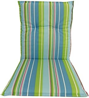 garden chair cushion seating pad for low back chairs in light blue green turquoise