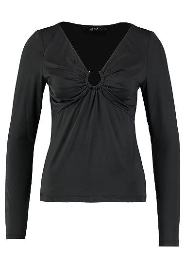 fc3901b13f50 Guess W81P53 Tops & T-Shirts Women Black S: Amazon.co.uk: Clothing
