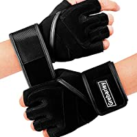 Grebarley Workout Gloves Breathable Weight Lifting Gloves Gym Gloves Grip Gloves Fitness Gloves with Full Wrist Strap for...