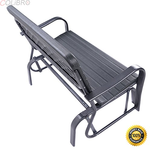 COLIBROX--Outdoor Patio Swing Porch Rocker Glider Bench Loveseat Garden Seat Steel New Swinging leisure bench Heavy duty steel construction and HDPE seat back, durable and comfortable.