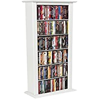 Venture Horizon Media Storage Tower-Regular Single White