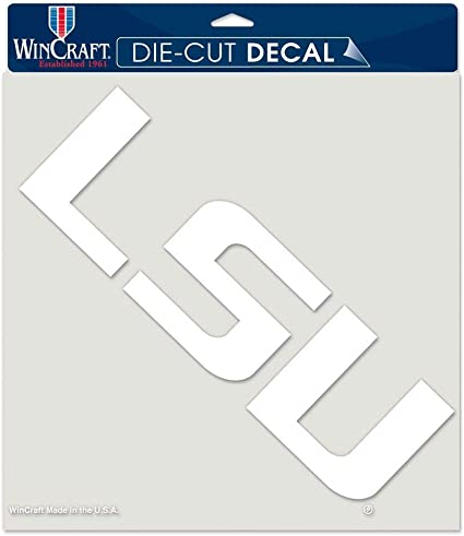 WinCraft Auburn Tigers Decal 8x8 Die Cut White