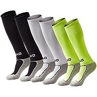 Welltree Boys & Girls Knee High Cotton Soccer Socks/Kids...