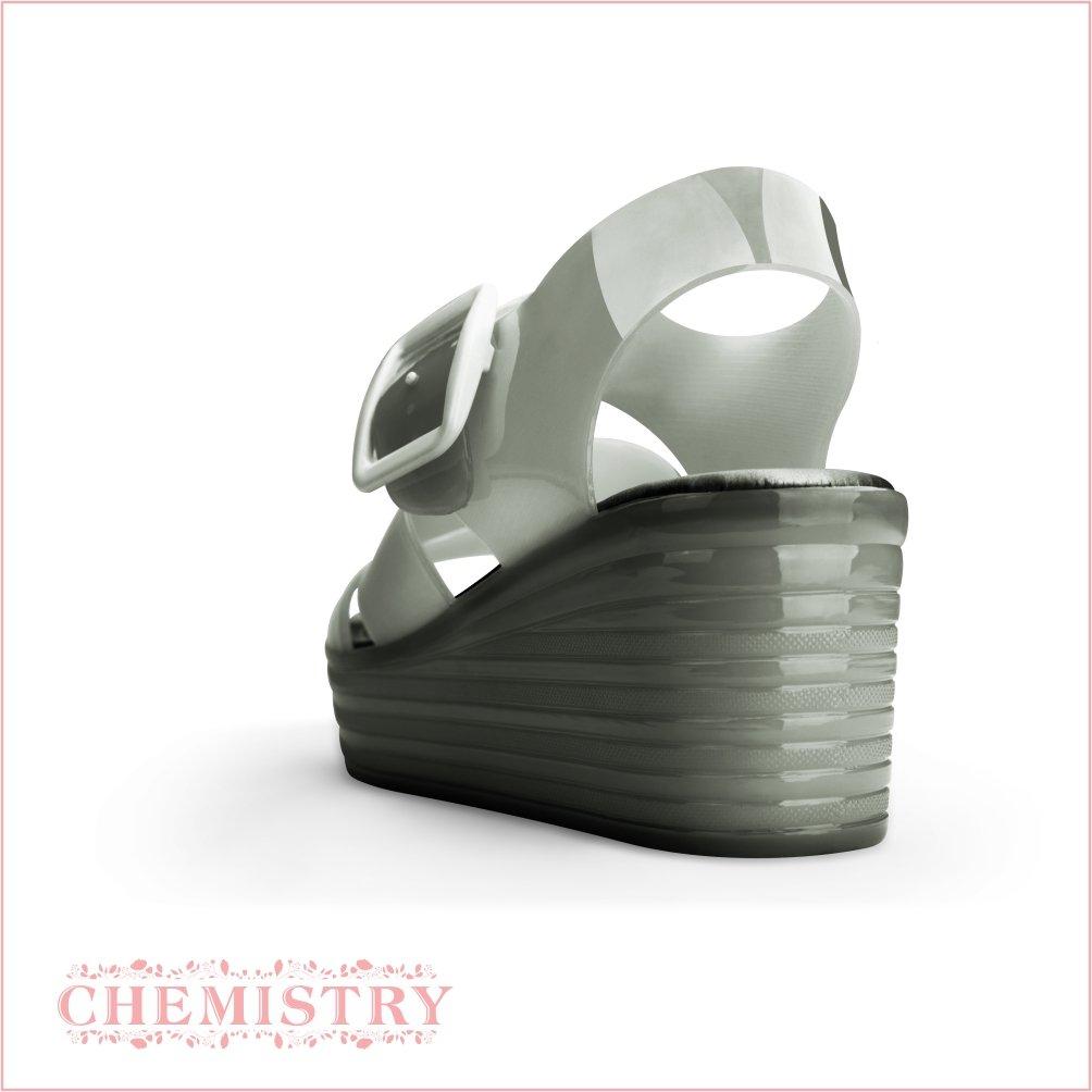 Chemistry Wedge Women's Jelly Platform Wedge Chemistry Heel Sandals Adjustable Strap Upper Low Top Shoes B016Z34FU6 10 B(M) US|Black 27d8e9