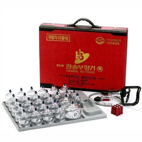 Hansol Professional Cupping Therapy Equipment 30 Cups Set wi