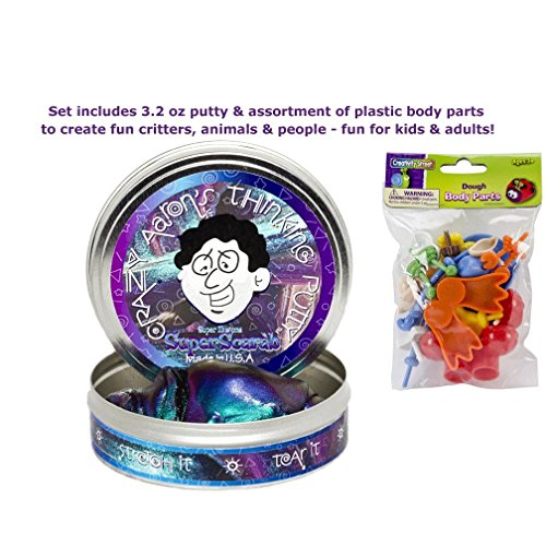 Crazy Aaron's Thinking Putty & Body Parts Fun Kit - Super Scarab