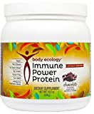 Body Ecology IMMUNE POWER PROTEIN Fermented Protein Shake, Chocolate, 19.2 Ounce Vegan, PLant Based, No Sugar Added, 15G Protein, Gluten-Free, 8 Medicinal Mushroom Blend