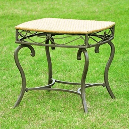 International Caravan 523697 Wicker Resin/Steel Patio Side