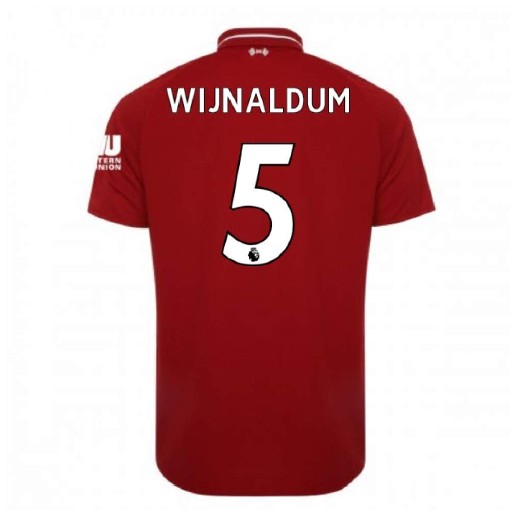 2018-2019 Liverpool Home Football Soccer T-Shirt Trikot (Georginio Wijnaldum 5) - Kids