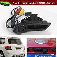 2 in 1 Replacement Car Trunk Handle + CCD Rear View Reverse Backup Parking Camera for BMW E82 E88 E90 E91 E92 E93 E60 E61 E70