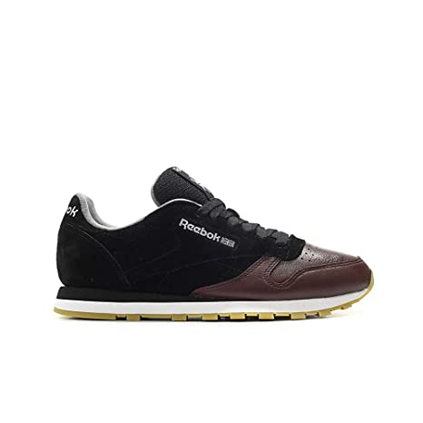 1e044c21655 Image Unavailable. Image not available for. Color  Reebok Classic Leather Ls  (Black Burnt Sienna ASH ...