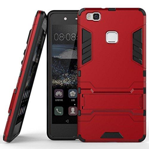 Funda para Huawei P9 Lite (5,2 Pulgadas) 2 en 1 Híbrida Rugged Armor Case Choque Absorción Protección Dual Layer Bumper...