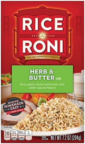 [Rice-A-Roni Herb & Butter, 7.2-Ounce Boxes (Pack of 12) by Rice A Roni] (7.2 Ounce Boxes)
