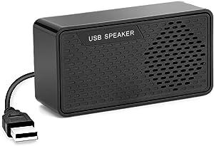 Computer Speaker USB Powered, Wired USB Speaker for Desktop Laptop with Mini Size for Game Movies Music Desktop PC Home Dorm Office Desk
