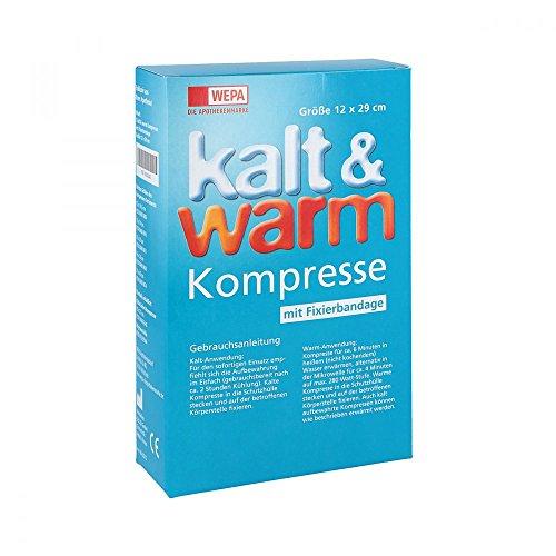 Kalt-warm Kompresse 12x29cm mit Fixierband 1 stk