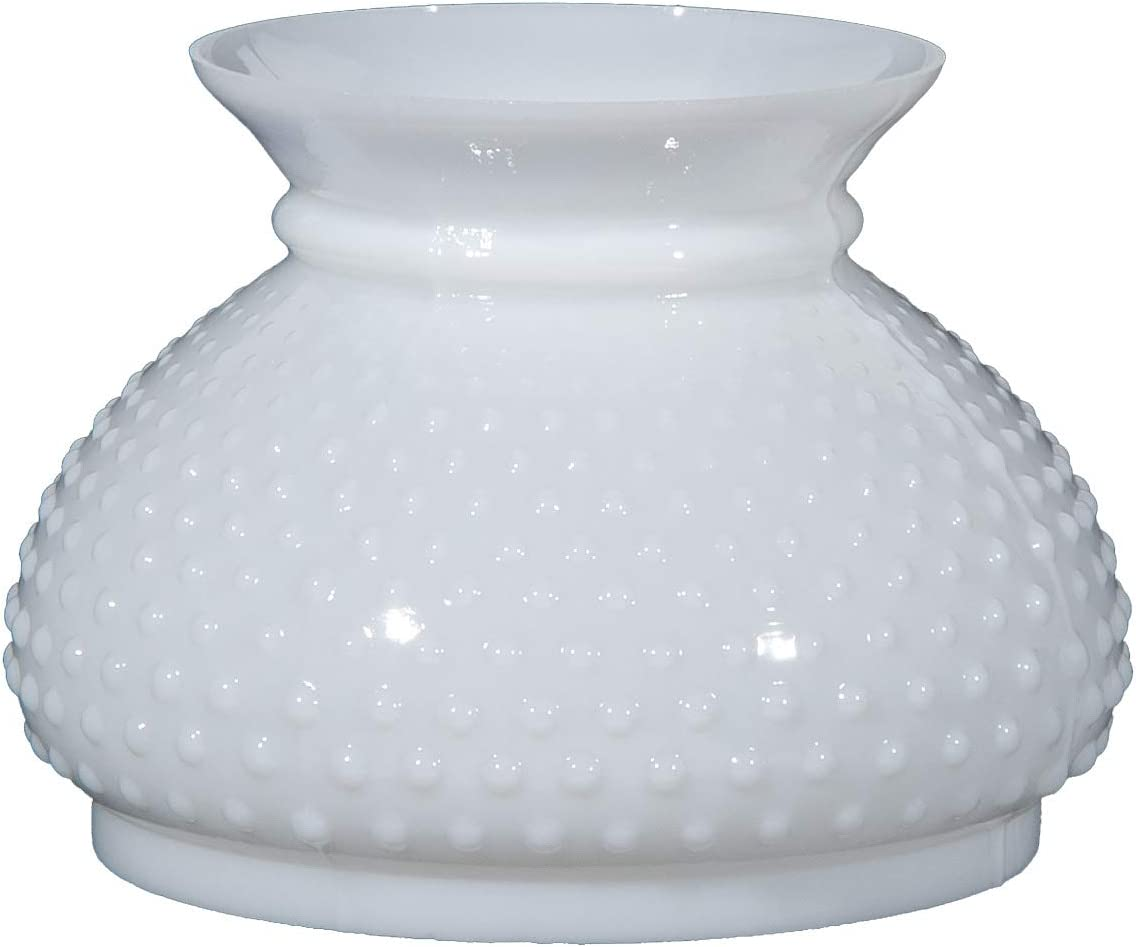 B P Lamp 7 Fitter Opal Hobnail Shade with Plain Top