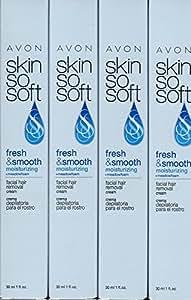 Avon Skin So Soft Facial Hair Removal Cream Lot of 4