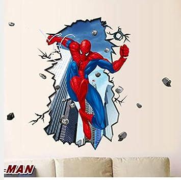 Giant Superman Spiderman 3D Etiqueta de la pared para habitaciones ...
