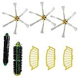 Eorien Flexible Beater Brush Bristle Brush Side Brush 6-Armed Filters for iRobot Roomba 500 510 530 535 536 540