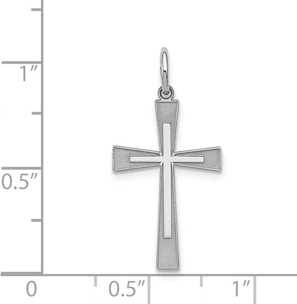 25mm x 12mm Solid 925 Sterling Silver Cross Pendant Charm