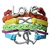Best Leather Bracelets For Gay Lesbians - LGBT Bracelet, Lesbian Pride Jewelry, Rainbow Pride Bracelet Review