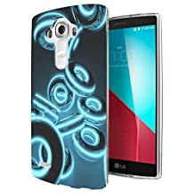 002288 - Blue Dark Circle Funky Design LG G4 Fashion Trend CASE Gel Rubber Silicone All Edges Protection Case Cover