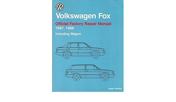 volkswagen fox official factory repair manual 1987 1988 including rh amazon com vw fox 1.2 workshop manual vw fox repair manual