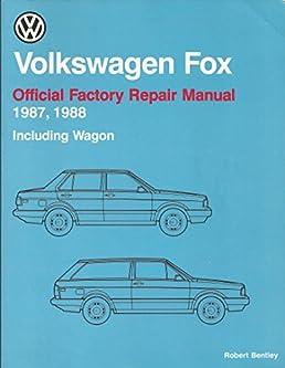 volkswagen fox official factory repair manual 1987 1988 including rh amazon com vw fox repair manual free download vw fox workshop manual