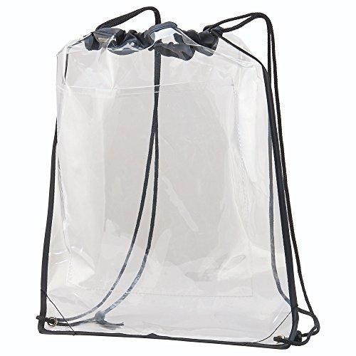 Augusta Sportswear Clear Cinch Bag OS Clear/Black ()