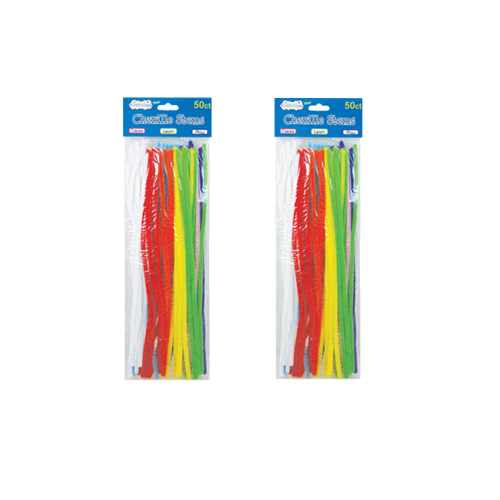 Craft Sticks Scrapbooking Craft Bundle Pom Poms Play Noodles Wiggle Googly Eyes Craft Pipe Cleaners Chenille Stems Glue Sticks