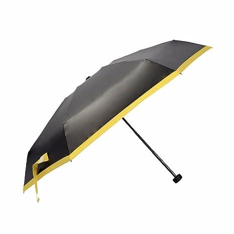Paraguas - Negro Paraguas Plegable Paraguas De Sol, Cinco Mujeres Creativas, Pegamento, Sol