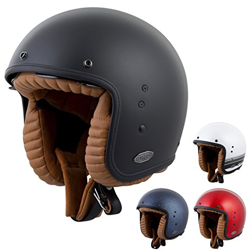 ScorpionExo Belfast 3/4 Open Face Helmet (Matte Black, Medium)