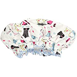 Bath Accessories Bouffant Shower Cap, Lingerie Print