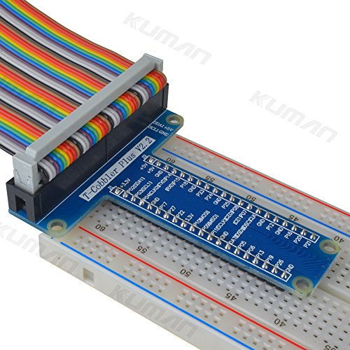 Kuman Rpi Gpio Breakout Expansion Board Ribbon Cable For