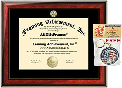 741bf7778e5 College Degree Insignia Logo Major Seal Diploma Frames Certificate Frame  Plaque Graduate Gift Satin Matte Mahogany with Gold Accents Wooden Alumni  ...