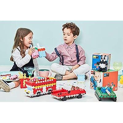 PLUS PLUS – Super Tube – 500 Piece, Basic Color Mix – Construction Building STEM   STEAM Toy, Interlocking Mini Puzzle Blocks for Kids: Toys & Games