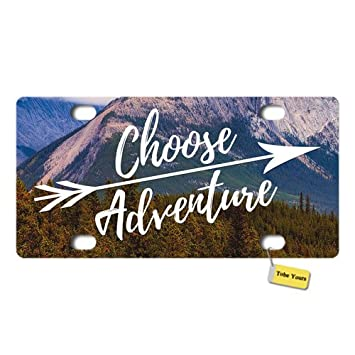 Tobe Yours License Plate Cover My Other Ride is A Broom Printed Auto Truck Car Front Tag Personalized Metal License Plate Frame Cover 6x12
