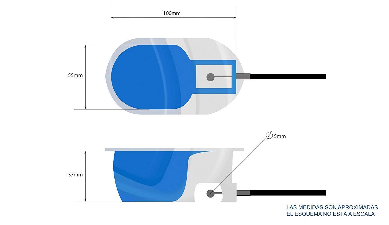 Palanca de sill/ón y sof/á relax Carcasa sin cable de pl/ástico resistente color cromo. reclinable de recambio