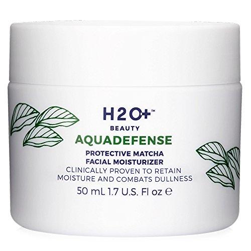H2O Beauty Aquadefense Protective Matcha Facial Moisturizer, Clinically Proven to Retain Moisture and Combats Dullness, 1.7 Ounce