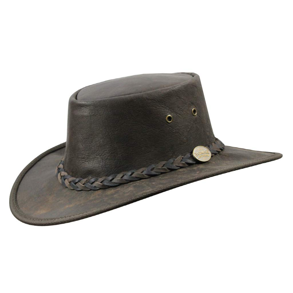 Barmah Foldaway Squashy Kangaroo Hat 1018 Crackle Brown