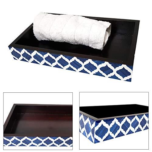 Bath Designer Vanity Contemporary - Collectibles Buy Antique Bone Inlay Guest Towel Vanity Tray Moroccan Blue Designer Trays Premium Contemporary Royal Bath Accessories