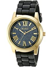 XOXO Women's XO8085 Analog Display Analog Quartz Black Watch