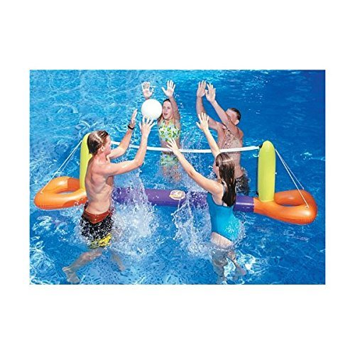 Swimline Floating Pool Volleyball Game Set Pool Float Toy