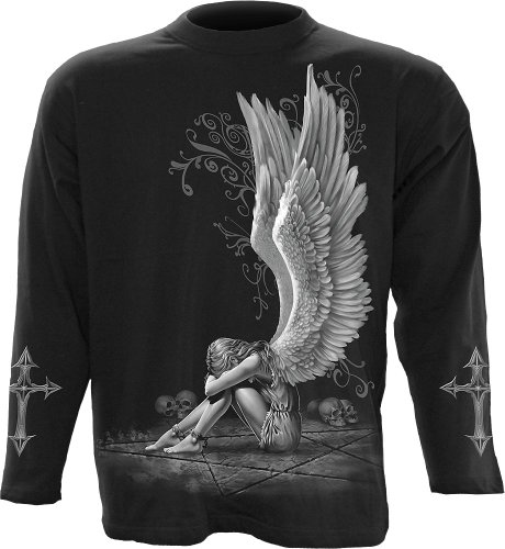 Spiral - Mens - Enslaved Angel - Longsleeve T-Shirt Black - ()