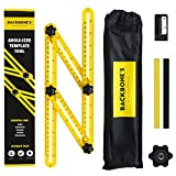 ANGLE-IZER Template Tool - Multi Angle Measuring Ruler | Angle Finder For Repetitive Measuring, Marking Shapes & Angles | Angleizer Ultimate pack with Pencils, Sharpener & Storage Bag