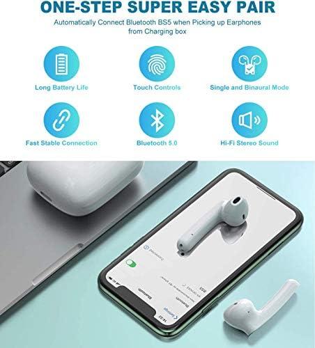 Écouteurs sans Fil Bluetooth 5.0 avec réduction de Bruit, écouteurs Sportifs avec IPX7 Écouteurs stéréo étanches dans l'oreille Intégré HD Mic Casques pour iPhone Android/Samsung
