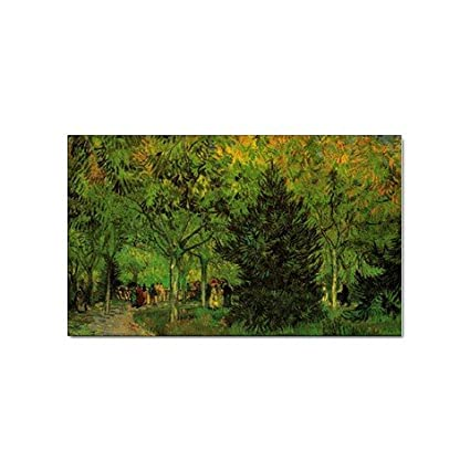 A Lane In The Public Garden At Arles By Vincent Van Gogh Sticker